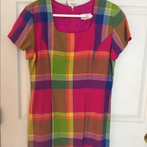 """""""Spring into the the Year"""" Plaid Dress"""